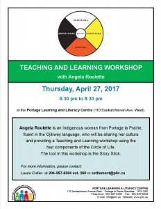 Newcomer Workshop - The Story Stick with Angela Roulette @ Portage Learning & Literacy Centre | Portage la Prairie | Manitoba | Canada