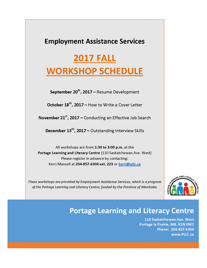 Join Our Amazing Employment Consultant As She Facilitates Several Important  Workshops This Fall. The Next Workshop U2013 U201cConducting An Effective Job  Searchu201d Is ...