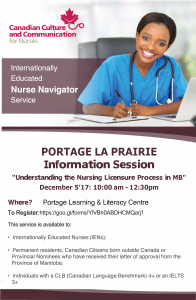 Internationally Educated Nurses Info Session @ Portage Learning and Literacy Centre | Portage la Prairie | Manitoba | Canada