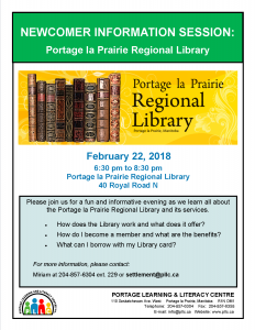 Newcomer Information Session - Learn to use the Library! @ Portage Learning and Literacy Centre | Portage la Prairie | Manitoba | Canada