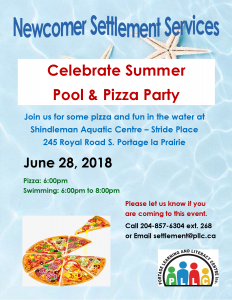Celebrate Summer Pool and Pizza Party @ Shindleman Aquatic Centre - Stride Place