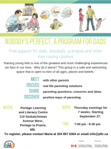 Dad's Group Session @ Portage Learning and Literacy Centre | Outlook | Saskatchewan | Canada
