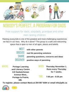 Dad's Group Session @ Portage Learning and Literacy Centre   Outlook   Saskatchewan   Canada