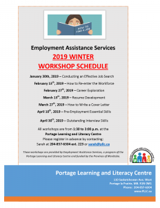 EAS Workshop - Conducting an Effective Job Search @ Portage Learning and Literacy Centre | Portage la Prairie | Manitoba | Canada