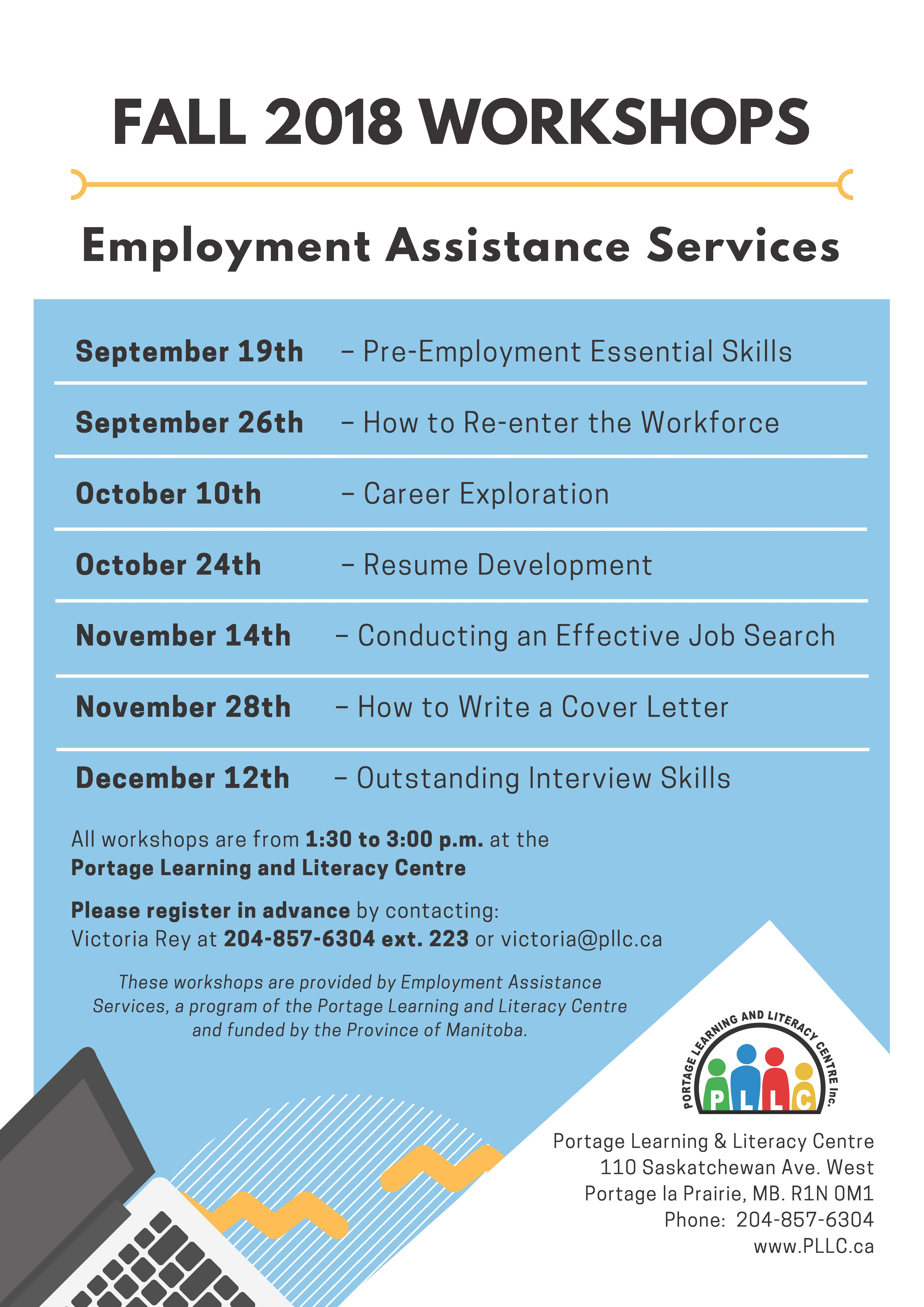 Employment Assistance Services   Portage Learning and Literacy Centre