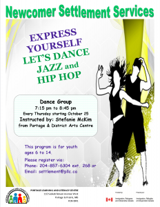 Dance Group for Youth @ Portage Learning and Literacy Centre | Portage la Prairie | Manitoba | Canada