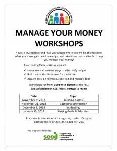 Manage Your Money Workshop - Gathering Information @ Portage Learning and Literacy Centre | Portage la Prairie | Manitoba | Canada