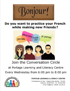 French Conversation Circle @ Portage Learning and Literacy Centre