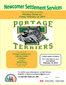 Newcomers event - Portage Terriers Game @ Stride Place