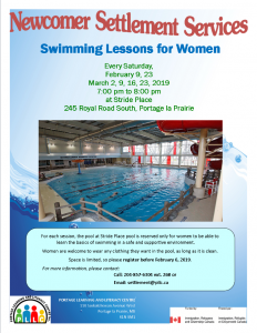 Swimming Lessons for Newcomer Women @ Stride Place