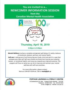 Newcomer Info Session - Mental Wellness @ PLLC