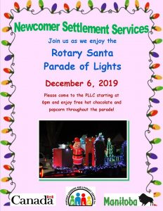 Rotary Santa's Parade of Lights @ Portage Learning and Literacy Centre