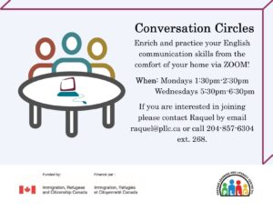 Conversation Circles via Zoom @ Portage Learning and Literacy Centre
