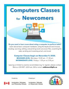 Computer Classes for Newcomers @ Portage Learning and Literacy Centre