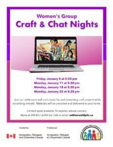 Women's Group - Craft and Chat Night @ Portage Learning & Literacy Centre