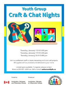 Youth Group - Craft and Chat Nights @ Portage Learning & Literacy Centre