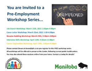 Career Exploration Workshop: Pre-Employment Workshop Series @ Portage Learning & Literacy Centre