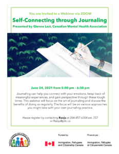 Self-Connecting Through Journaling @ Portage Learning & Literacy Centre