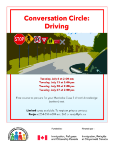 Conversation Circle: Driving @ Portage Learning & Literacy Centre