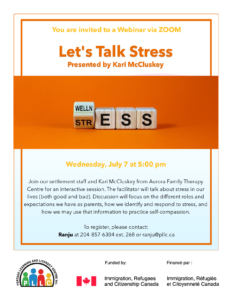Let's Talk Stress: Presented by Kari McCluskey @ Portage Learning & Literacy Centre