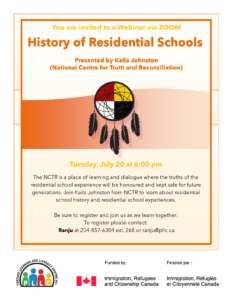 History of Residential Schools: Presented by Kaila Johnston @ Portage Learning & Literacy Centre