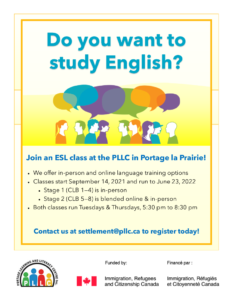 ESL Classes @ Portage Learning & Literacy Centre