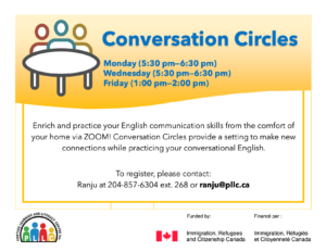 Conversation Circles @ Portage Learning & Literacy Centre