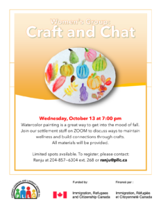 Women's Group: Craft & Chat @ Portage Learning & Literacy Centre