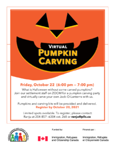Virtual Pumpkin Carving @ Portage Learning & Literacy Centre