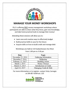 Money Management Training – 2016-17 Workshops Announced!