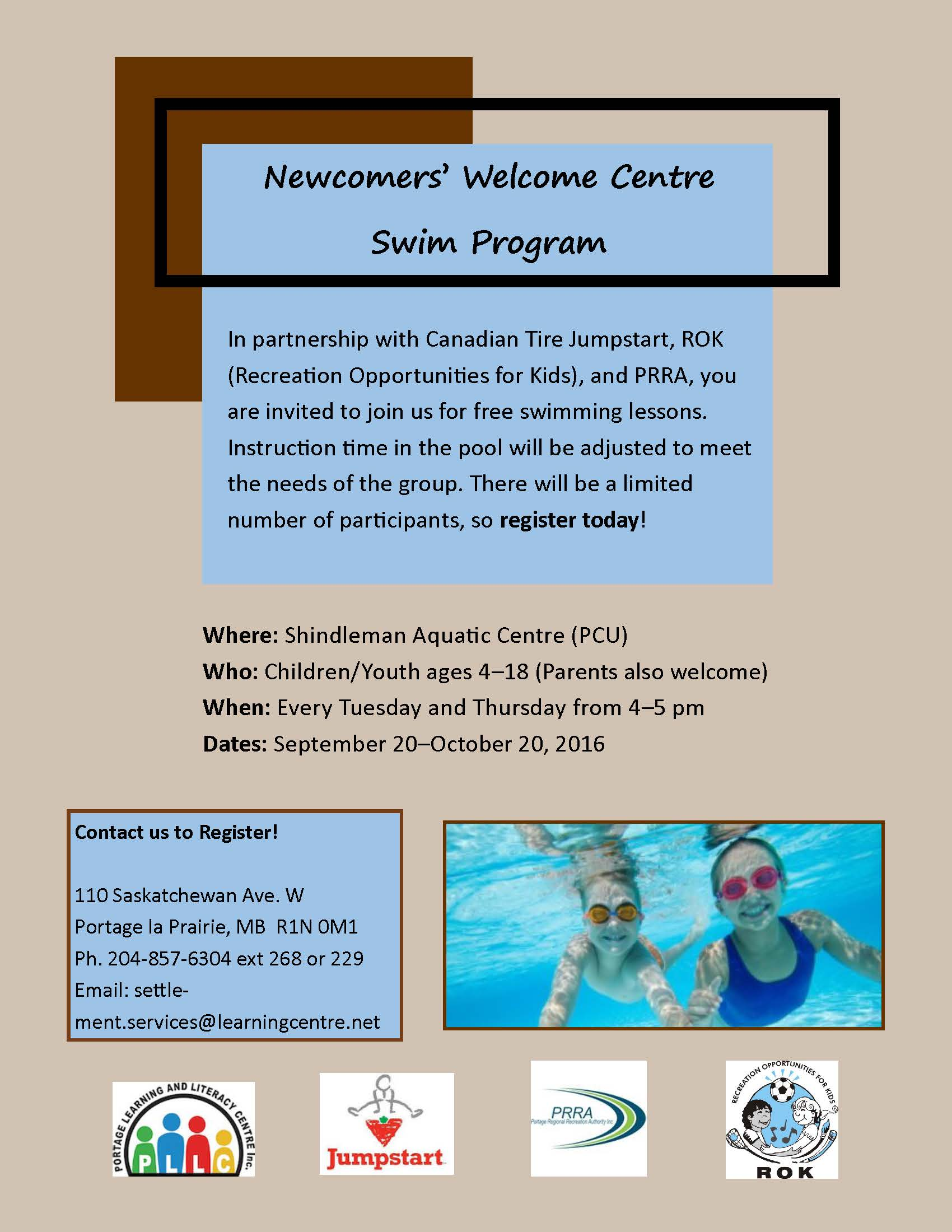 Newcomers' Welcome Centre Swim Program
