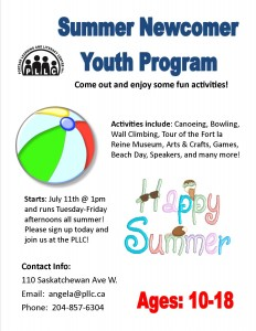 Summer Youth Engagement Program for Newcomer Youth