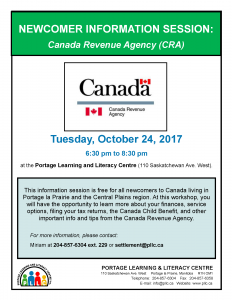 Newcomer Information Session – Canada Revenue Agency