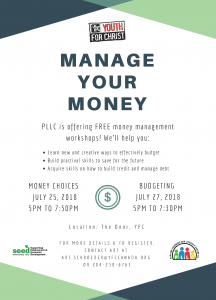 Manage Your Money Workshops in the Community!